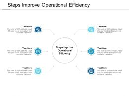 Steps Improve Operational Efficiency Ppt Powerpoint Presentation Model Cpb