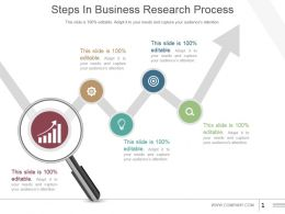 Steps In Business Research Process Powerpoint Slide Show
