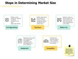 Steps In Determining Market Size Sub Segmenting Ppt Powerpoint Presentation Summary