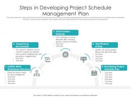 Steps In Developing Project Schedule Management Plan