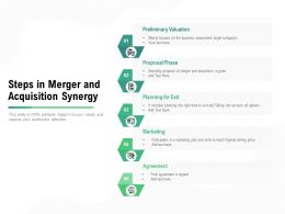 Steps In Merger And Acquisition Synergy