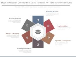 Steps In Program Development Cycle Template Ppt Examples Professional