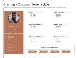 Steps Increase Customer Engagement Business Growth Creating A Customer Persona Goals Ppt Brochure