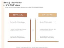 Steps Increase Customer Engagement Business Growth Identify The Solution The Root Cause Ppt Structure