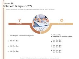 Steps Increase Customer Engagement Business Growth Issues And Solutions Template Solutions Ppt Topics