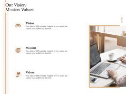 Steps Increase Customer Engagement Business Growth Our Vision Mission Values Ppt Sample