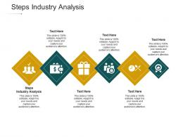 Steps Industry Analysis Ppt Powerpoint Presentation Ideas Format Cpb