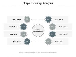 Steps Industry Analysis Ppt Powerpoint Presentation Styles Show Cpb