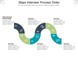 Steps Interview Process Order Ppt Powerpoint Presentation Gallery Infographic Template Cpb