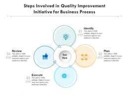 Steps Involved In Quality Improvement Initiative For Business Process