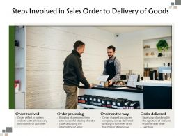 Steps Involved In Sales Order To Delivery Of Goods