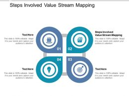 Steps Involved Value Stream Mapping Ppt Powerpoint Presentation Layouts Samples Cpb