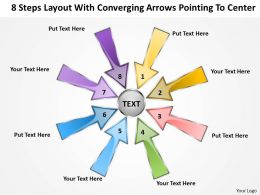 steps layout with converging arrows pointing to center Cycle Process PowerPoint templates