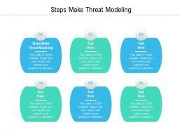 Steps Make Threat Modeling Ppt Powerpoint Presentation Slides Graphics Design Cpb