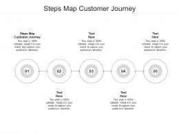 Steps Map Customer Journey Ppt Powerpoint Presentation Show Cpb