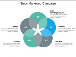 Steps Marketing Campaign Ppt Powerpoint Presentation Infographic Template Files Cpb