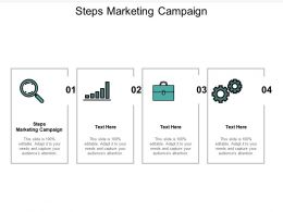 Steps Marketing Campaign Ppt Powerpoint Presentation Inspiration Ideas Cpb