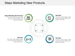 Steps Marketing New Products Ppt Powerpoint Presentation Portfolio Visuals Cpb
