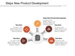Steps New Product Development Ppt Powerpoint Presentation Model Smartart Cpb