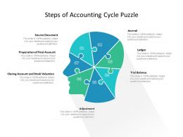 Steps Of Accounting Cycle Puzzle