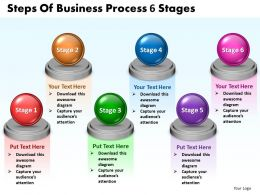 Steps Of Business Process 6 Stages Powerpoint templates 0812 17