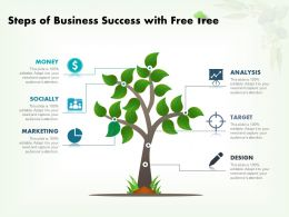 Steps Of Business Success With Free Tree