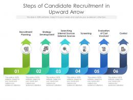 Steps Of Candidate Recruitment In Upward Arrow