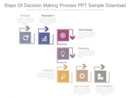 Steps Of Decision Making Process Ppt Sample Download