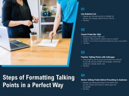 Steps Of Formatting Talking Points In A Perfect Way