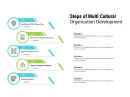 Steps Of Multi Cultural Organization Development