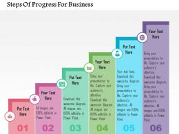 Steps Of Progress For Business Flat Powerpoint Design