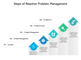 Steps Of Reactive Problem Management