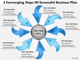 steps of successful free business powerpoint templates plan Cycle Flow Chart