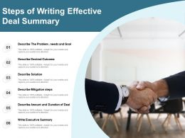 Steps Of Writing Effective Deal Summary