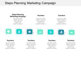 Steps Planning Marketing Campaign Ppt Powerpoint Presentation File Shapes Cpb