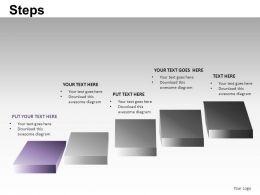 Steps Powerpoint Presentation Slides DB