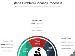 Steps Problem Solving Process 3 Powerpoint Slides Design