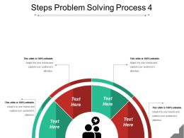 Steps Problem Solving Process 4 Powerpoint Templates