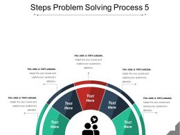 Steps Problem Solving Process 5 Powerpoint Templates