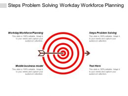 Steps Problem Solving Workday Workforce Planning Mobile Business Model Cpb
