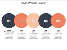 Steps Product Launch Ppt Powerpoint Presentation Gallery Templates Cpb