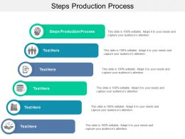Steps Production Process Ppt Powerpoint Presentation Icon Cpb