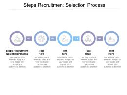 Steps Recruitment Selection Process Ppt Powerpoint Presentation Summary Deck Cpb
