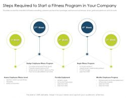 Steps Required To Start A Fitness Program In Your Company Body Ppt Icons