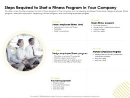 Steps Required To Start A Fitness Program In Your Company M1650 Ppt Powerpoint Presentation Model