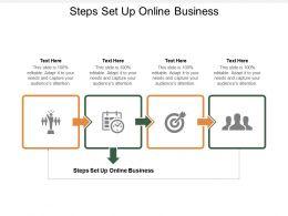 Steps Set Up Online Business Ppt Powerpoint Presentation Portfolio Slides Cpb
