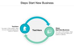 Steps Start New Business Ppt Powerpoint Presentation File Background Image Cpb