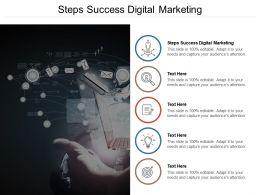 Steps Success Digital Marketing Ppt Powerpoint Presentation Styles Cpb