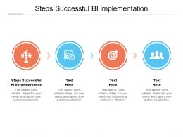 Steps Successful BI Implementation Ppt Powerpoint Presentation Pictures Maker Cpb