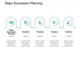 Steps Succession Planning Ppt Powerpoint Presentation Inspiration Layouts Cpb